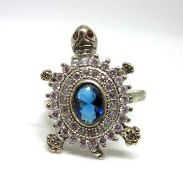 Silver 925 blue stone tortoise ring sr925-116