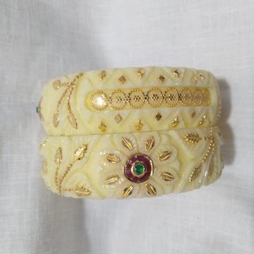 22KT Gold Kundan Design Plastic Bangle  by