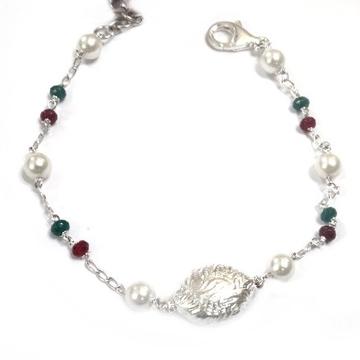 925 sterling silver pearl bracelet mga - brs0053
