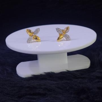 22KT/916 Yellow Gold Lyme Flower Earrings For Women