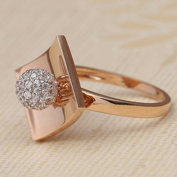 18KT Rose Gold fancy engagement ring for Ladies LR... by