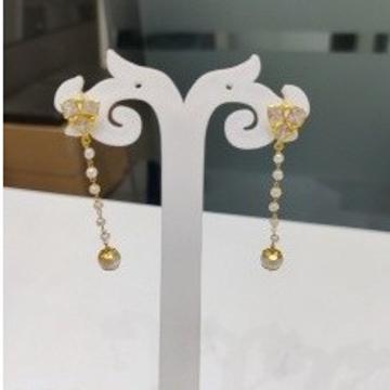 18k gold light weight fancy earings by