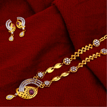 916 Gold Fancy  Chain  Necklace CN92