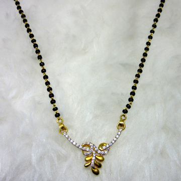 Gold diamond designer mangalsutra