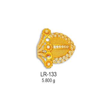 916-Yellow-Gold-CZ-Diamond-Ladies-Ring-LR-133