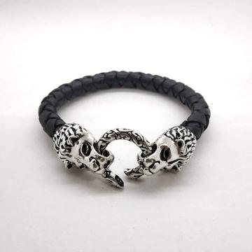 92.5 Silver Leader Bracelet For Men