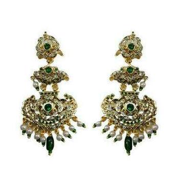 Showroom Of Modern Designer Rajputi Earrings Jewelxy 37994