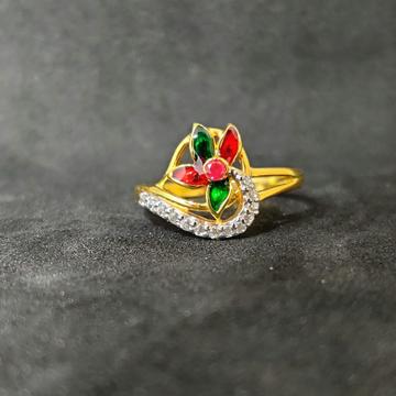 22k Ladies Fancy Meena Ring-17011