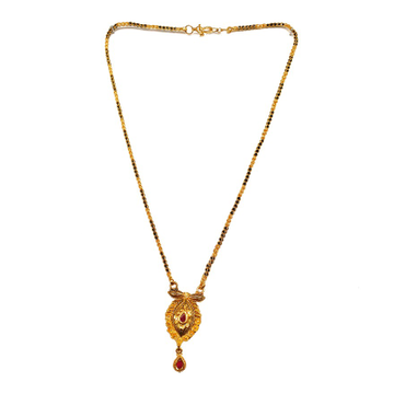 One gram gold forming fancy mangalsutra mga - mse0026