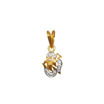 22K Gold Om Ganesh Pendant MGA - PDG0223