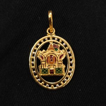 916 Gold Fancy Aksharderi Pendant