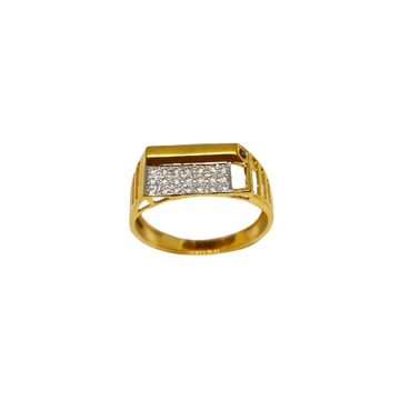 22K Gold Matte finish Fancy Ring MGA - GRG0233