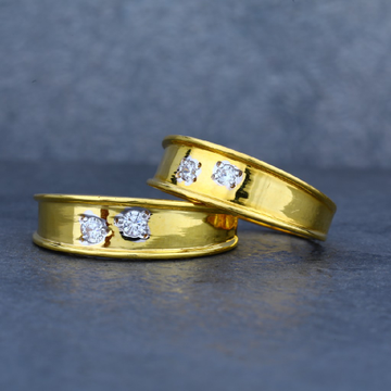 22ct Fancy Gold Couple Engagement Ring-CR04