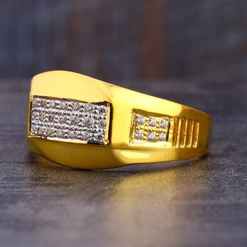916 CZ Gold Classic Men's Ring MR753
