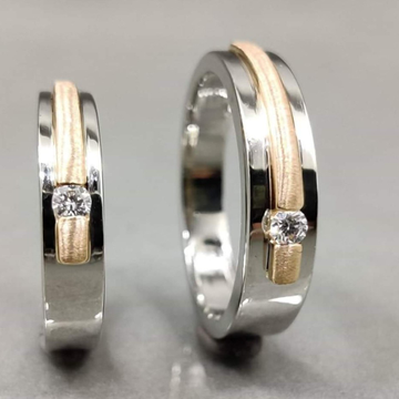 950 Platinum Oriel Love Couple Ring for Unisex