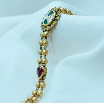 22KT Gold Antique Bracelet LB-580 by