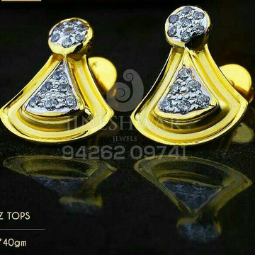 18kt Special Occation Were Cz Gold Ladies Tops ATG -0288