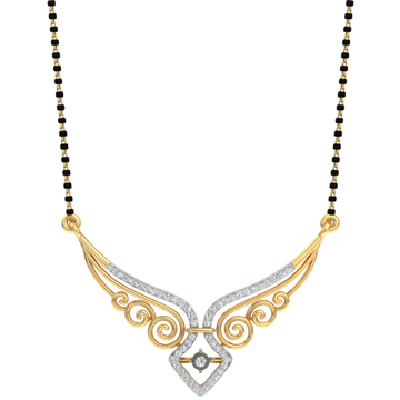 Fancy real diamond mangalsutra by