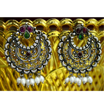 925 Silver Traditional Chandbali Earring VJ-E003