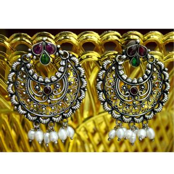 925 Silver Traditional Chandbali Earring VJ-E003 by