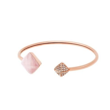 18kt rose gold and diamond square shaped bracelet jkb023