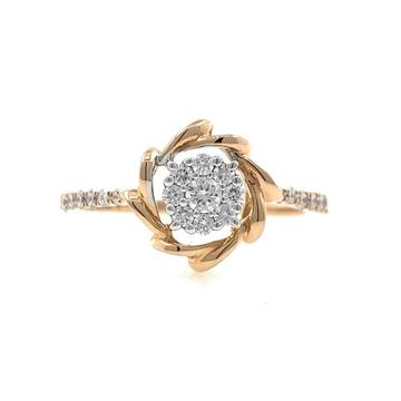 18kt / 750 Rose Gold Classic Engagement Ladies Dia...