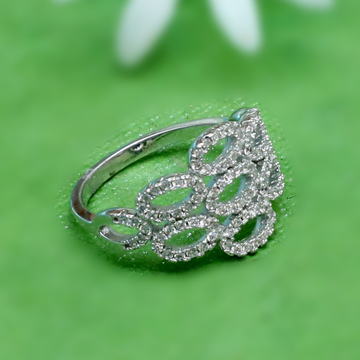 925 Sterling Silver Fancy Diamond Ring PJ-R036