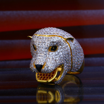 Lion Gold Mens Ring-MHR52