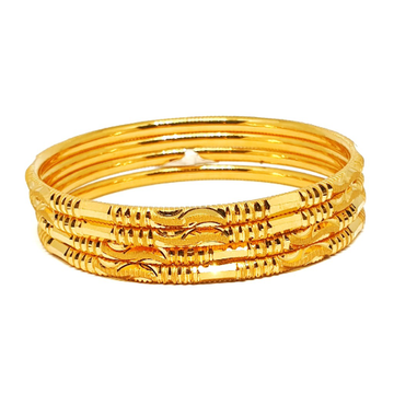 One gram gold forming plain bangles mga - bge0347