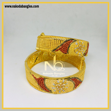 916 Gold Calcutty Bangles NB - 433