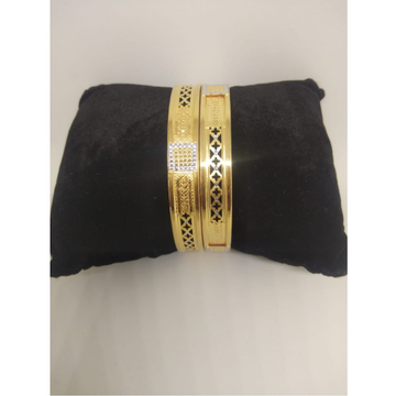 22KT Gold Designer Double Pipe Kadli Bangle VN-B013