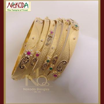 916 Gold Chakari Bangles NB-081