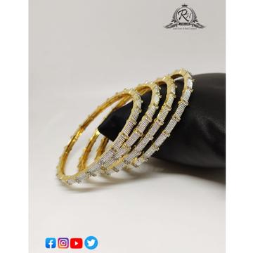 22 carat gold antiq ladies bangles RH-LB626