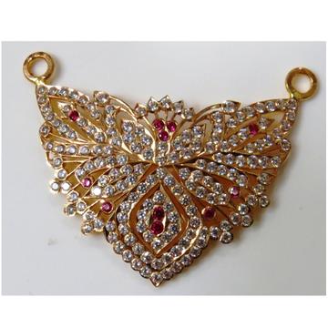 22kt Gold Close Setting CZ  Flower Design pendant