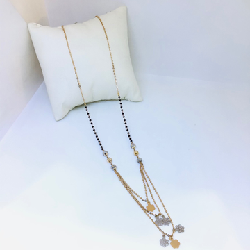 FANCY FLOWER ROSE GOLD MANGALSUTRA by
