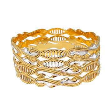 One Gram Gold Forming Designer Bangles MGA - BGE0470
