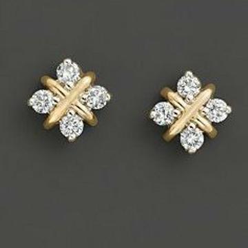 18KT yellow gold fancy casual ware Stud earrings f... by