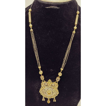 22KT Gold Antique Bridal Long Mangalsutra by