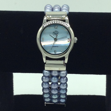 Freshwater Purple Round Pearls 3 Layers Watch JBG0...