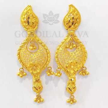 22kt gold earrings bijli