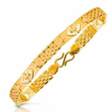 22KT / 916 Gold plain casual ware bracelet for men... by