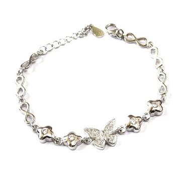925 Sterling Silver Butterfly Bracelet MGA - BRS0416