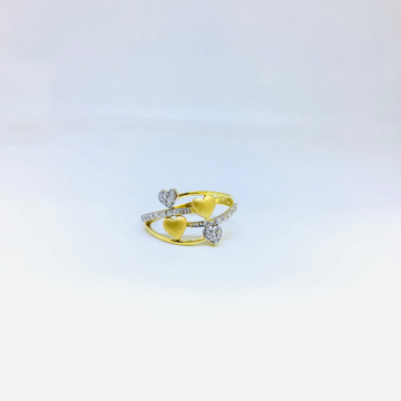 DESIGNING FANCY HEART GOLD RING by