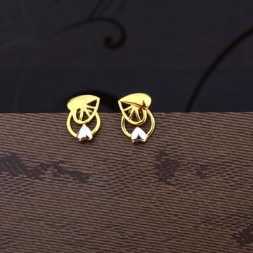 Ladies 22K Gold Casting Plain Earring -LPE41