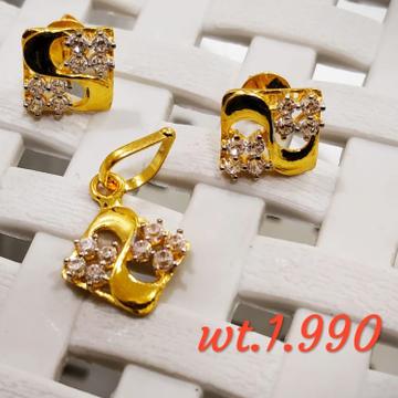 22KT yellow Gold light weight Jeweller For Women