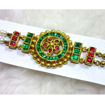 Gold minakari colorful antique bracelet