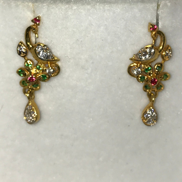 916 Gold Peacock Design earring KB-E004