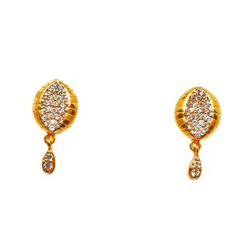 22K Gold Modern Earrings MGA - BTG0180