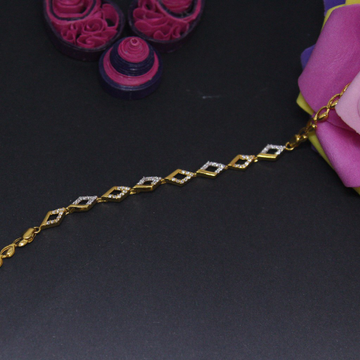 22K Hallmarked Classic Diamond Bracelet For women by Simandhar Jewellers