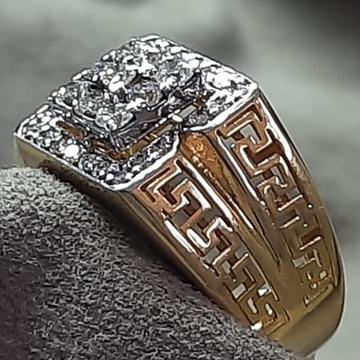 916 Gold diamond  Modern Ring Design For Men's SDJ... by Shri Datta Jewel